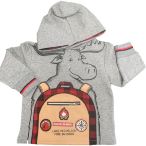 Front of toddler moose hoodie