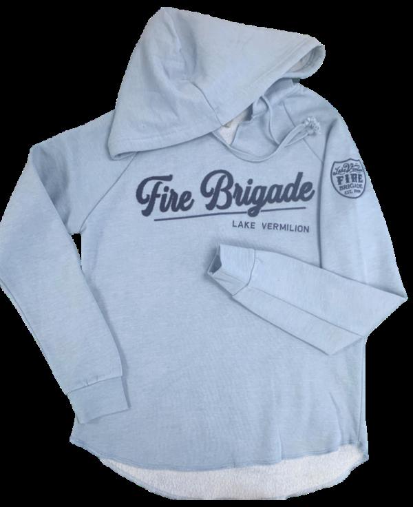 Ladies hoodie in misty blue