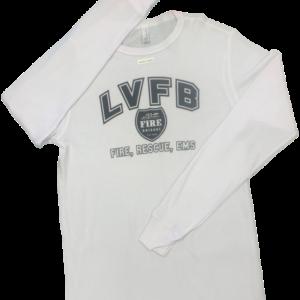 White thermal shirt with LVFB logo